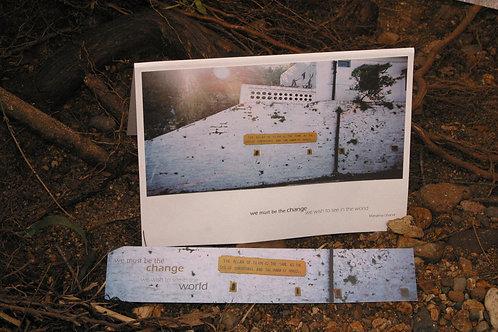 Train Station Wall - India: Greeting Card