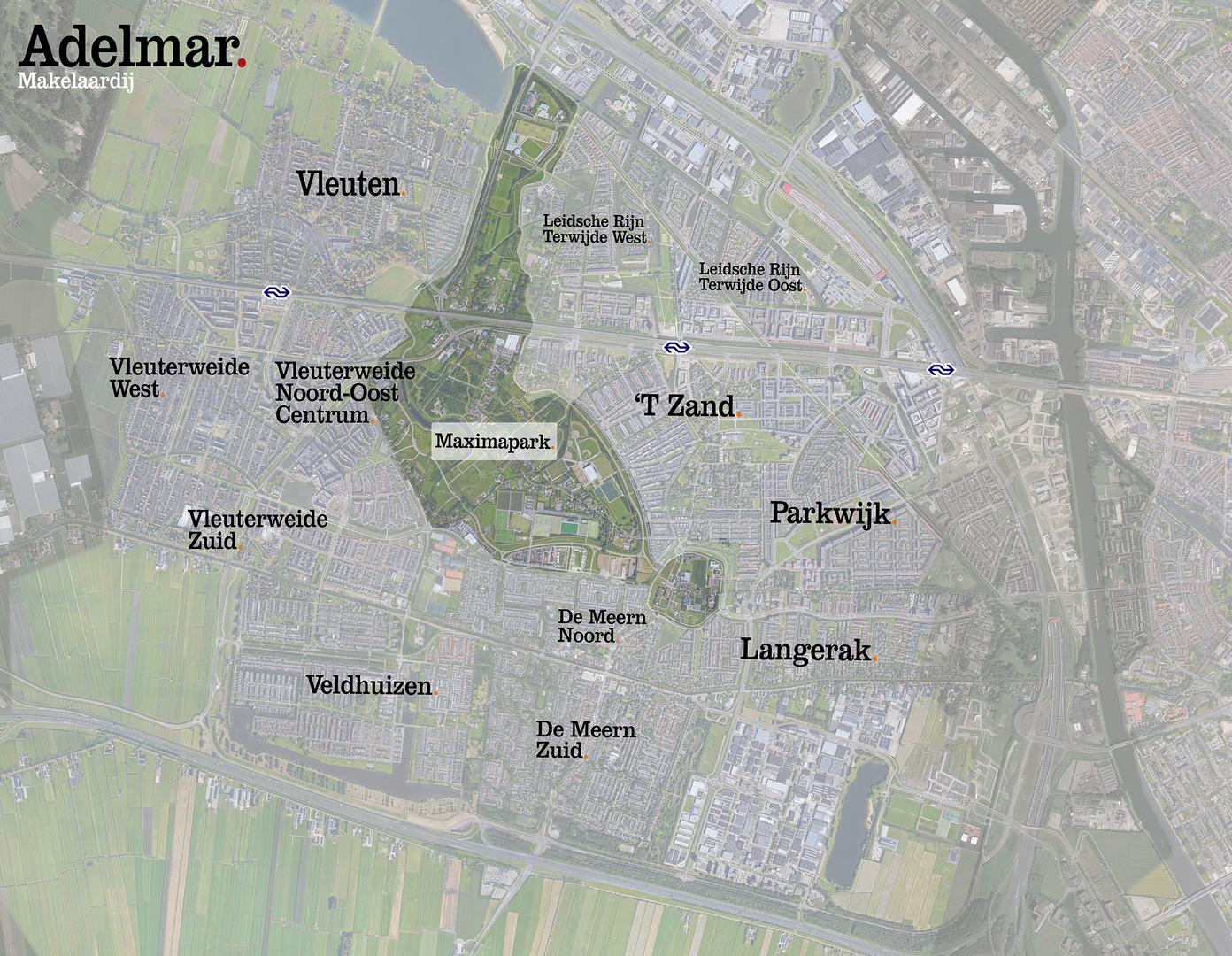 Subwijken omgeving Leidsche Rijn
