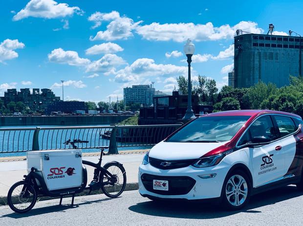 Vélo et voiture SOS 100% électrique