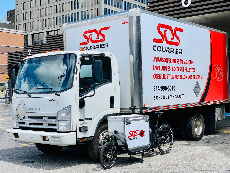 Vélo et camion SOS