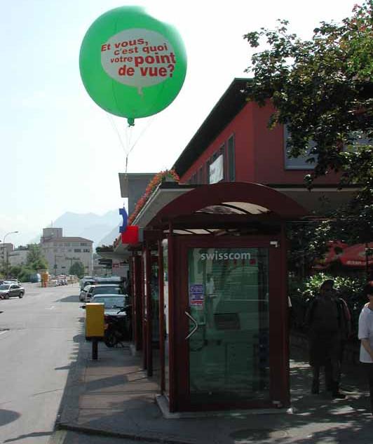 Heliumballon-Werbung