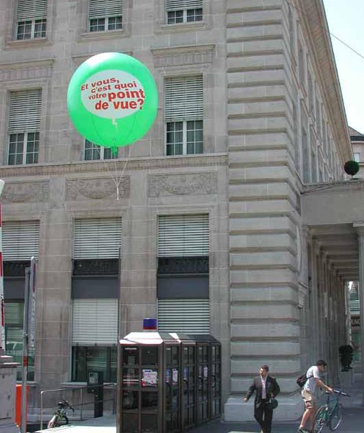 Heliumballon Werbung