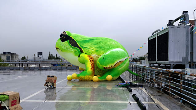 giant frog inflatables