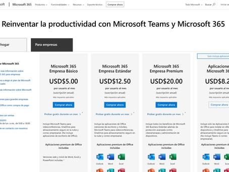 Microsoft Power Platforms Introduccion a Microsoft 365(Office 365) Adquirir Licencias.