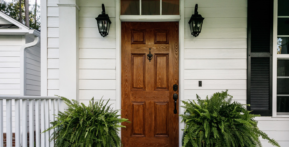 New front door replacement in Grandville. Remodeled by Renew Home Improvement contractor