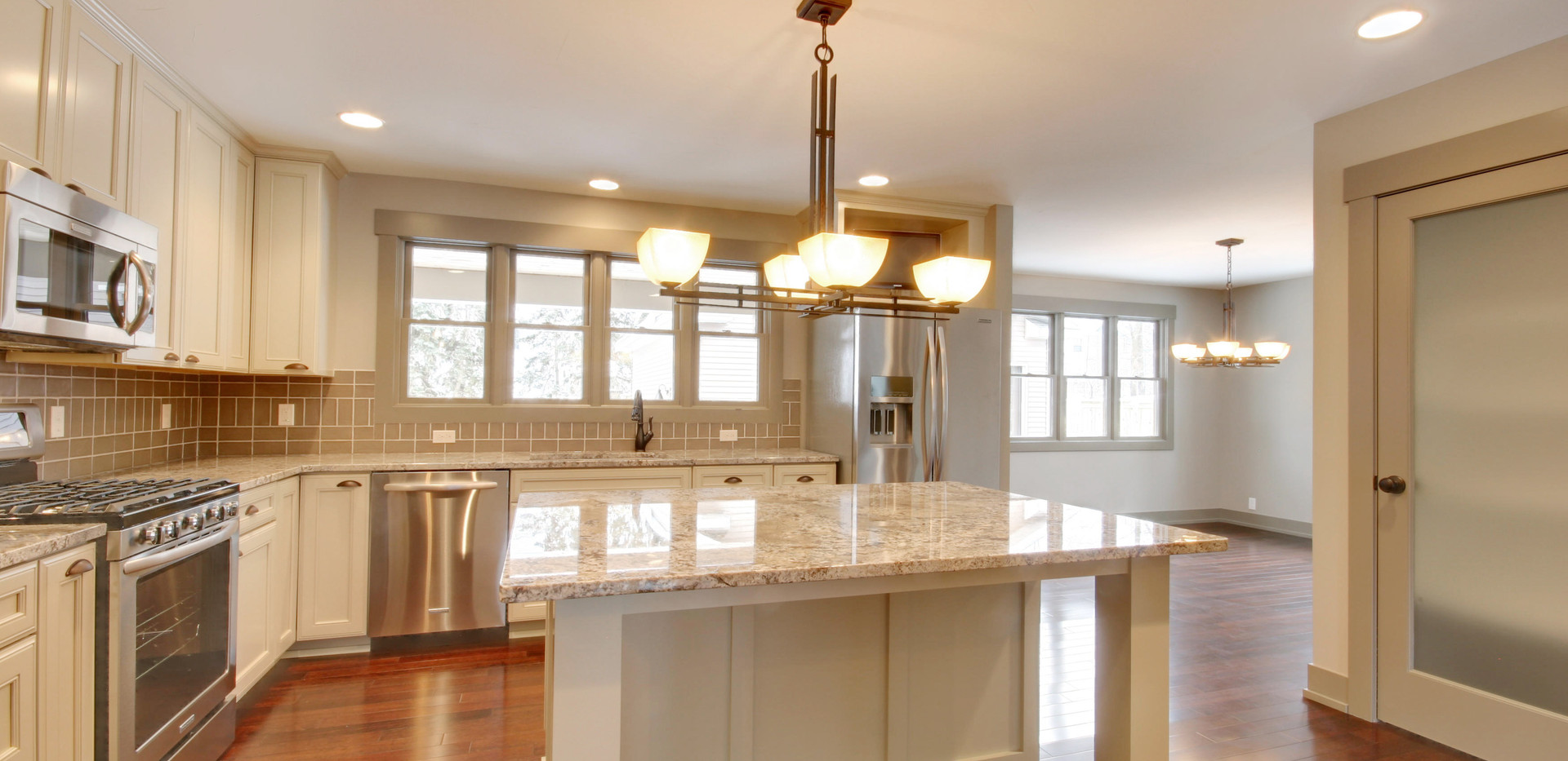 Beautiful new full kitchen remodel in the Grand Rapids area by Renew Home Improvement remodeling contractor