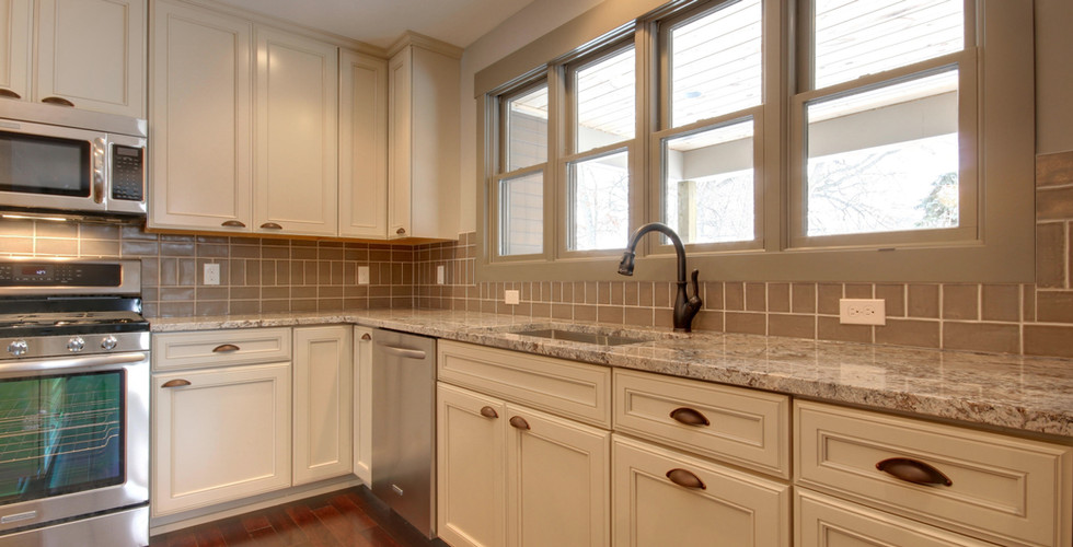 New sink area of Grand Rapids full kitchen remodel