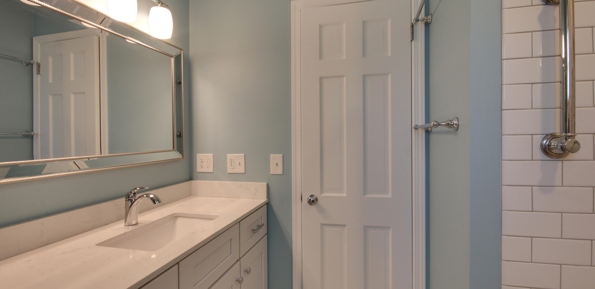 Bathroom vanity side view of Hudsonville remodel project