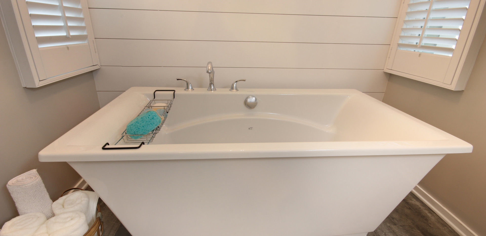 New bathroom tub remodel project in Holland by Renew Home Improvement bathroom remodeler