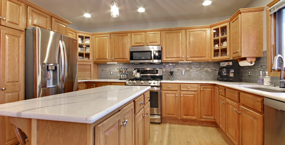 New kitchen island with granite counter tops by Renew Home Improvement remodeling contractor