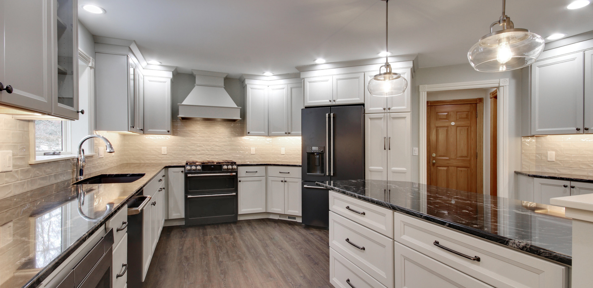 Beautiful modern kitchen remodel project in Jenison by Renew Home Improvement remodeling contractor