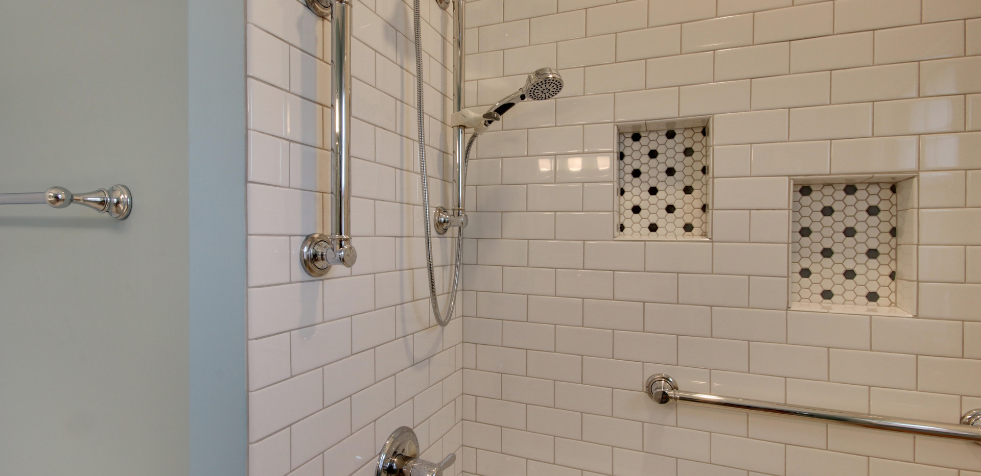Hudsonville bathroom remodel featuring new tub shower