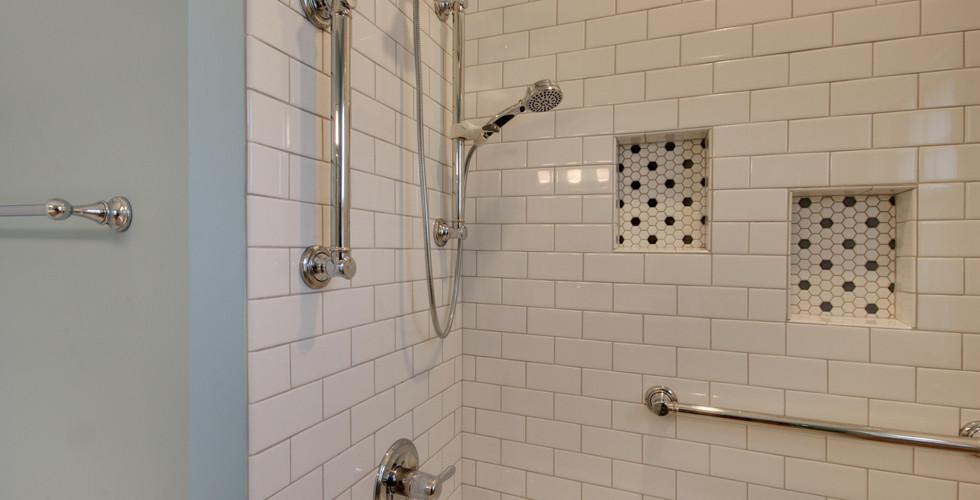 Hudsonville bathroom remodel featuring new tub shower