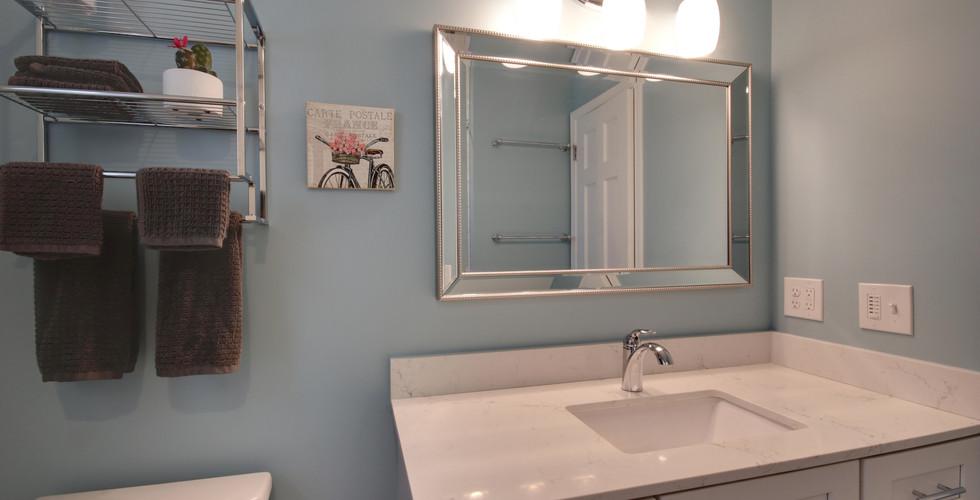 Beautiful new bathroom vanity in Hudsonville remodeling project