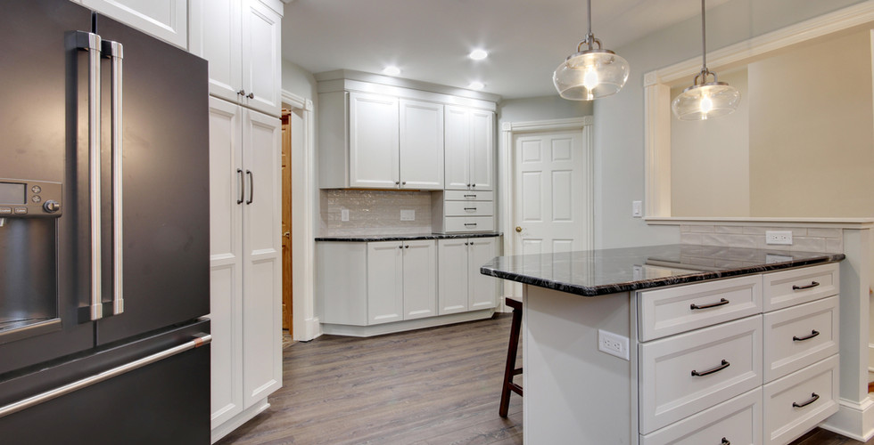 Modern design kitchen remodel project in Jenison by Renew Home Improvement remodeling contractor