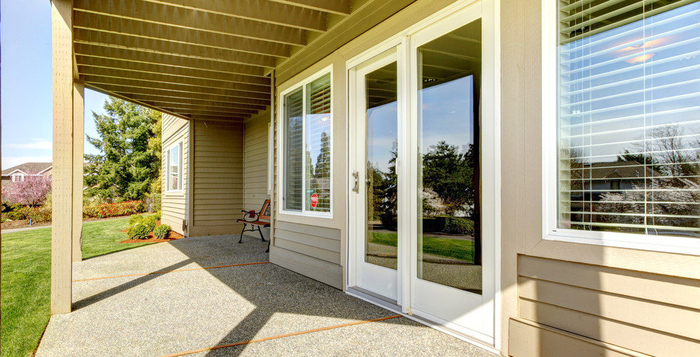 New patio door replacement in Hudsonville. Remodeled by Renew Home Improvement contractor