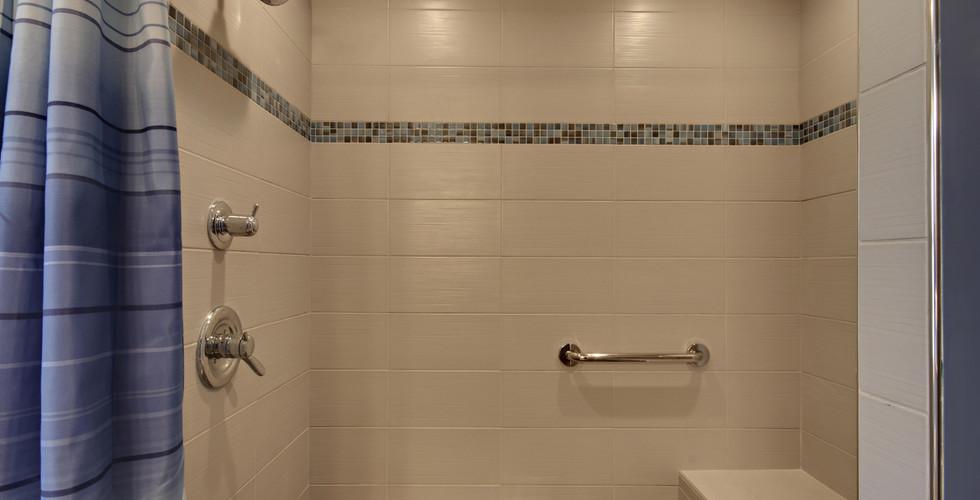 New tile shower of Hudsonville bathroom remodel project