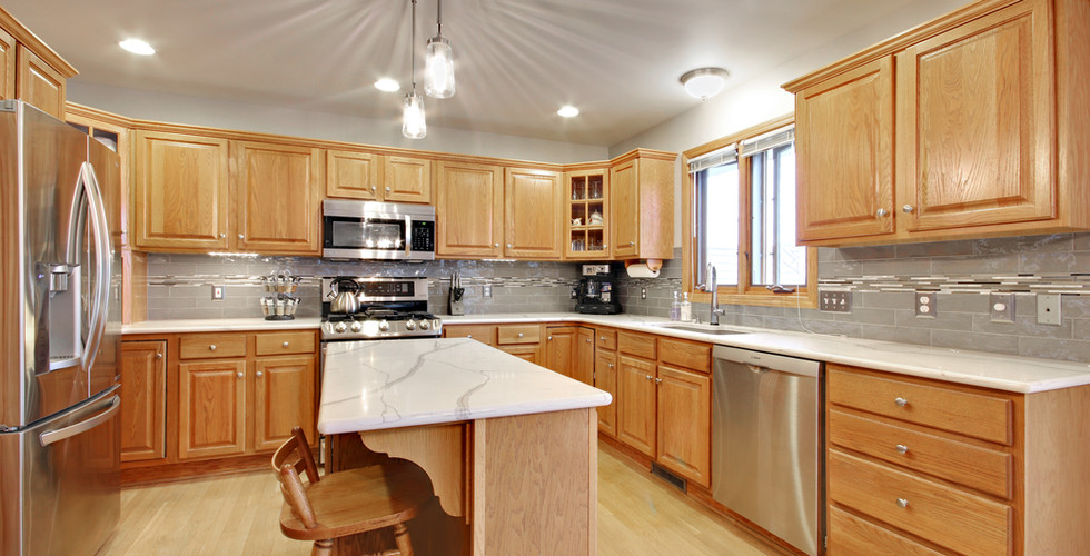 Beautiful partial kitchen remodel in the Hudsonville area by Renew Home Improvement remodeling contractor