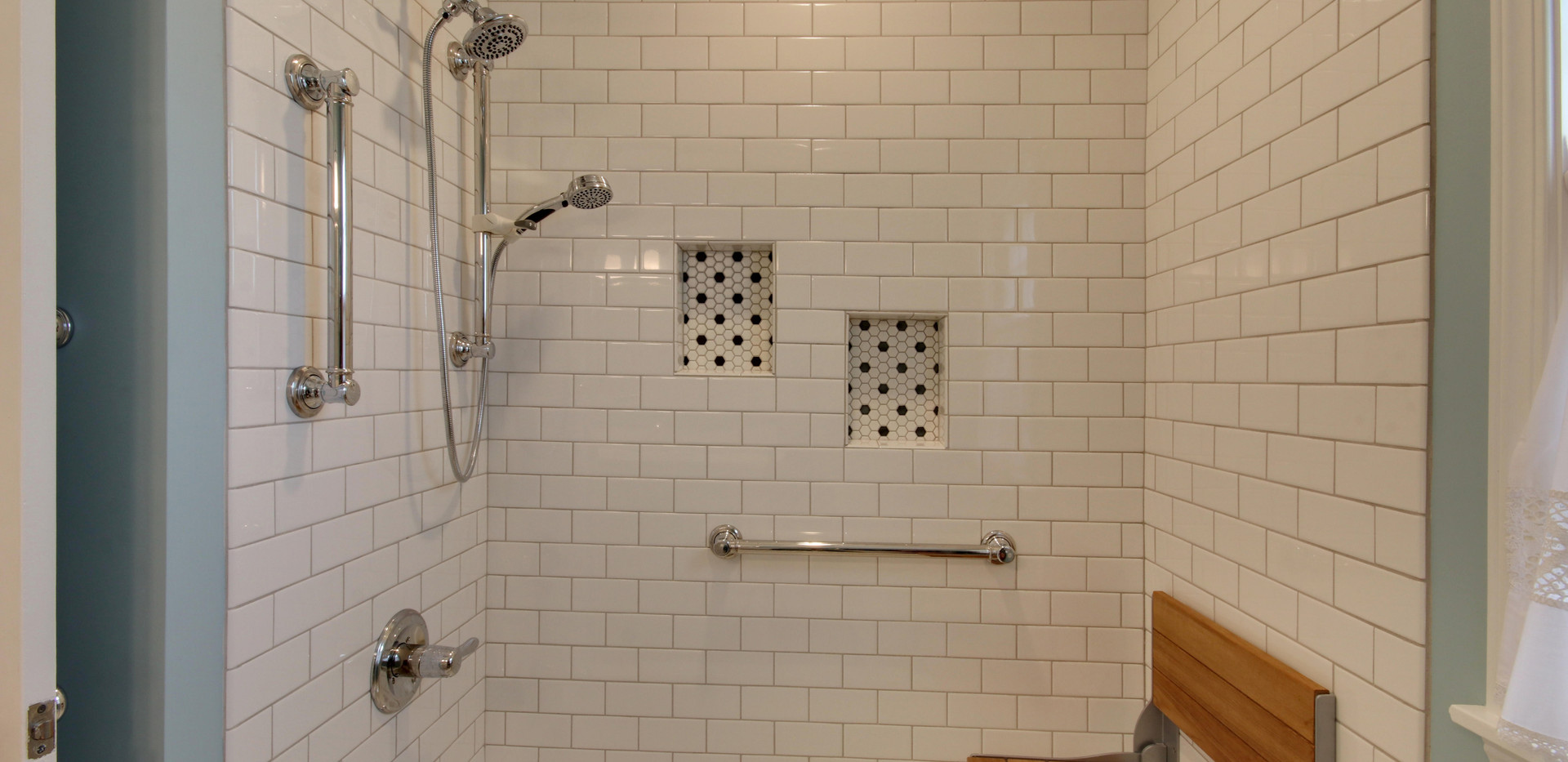 Beautiful new tub shower from Hudsonville bathroom remodel project