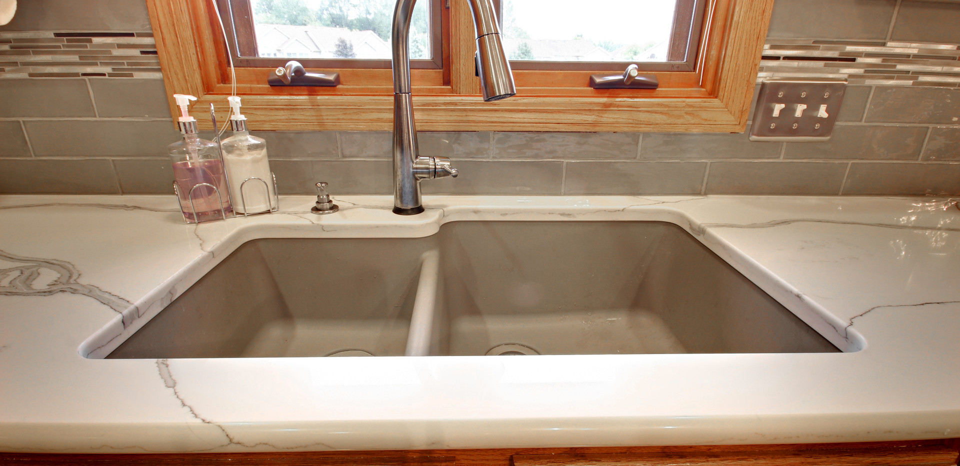 New sink area of Hudsonville kitchen remodel