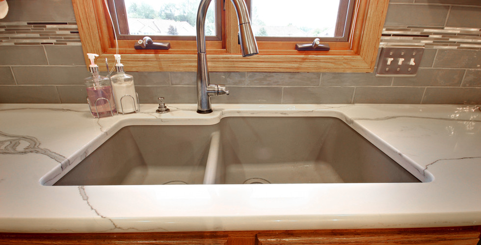 New sink area of Hudsonville kitchen remodel