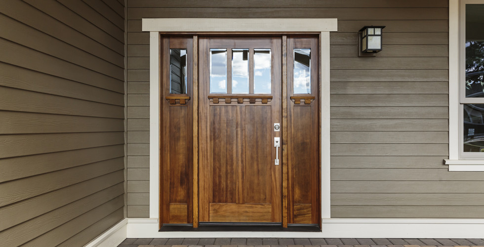 Beautiful new front door replacement in Jenison. Remodeled by Renew Home Improvement contractor