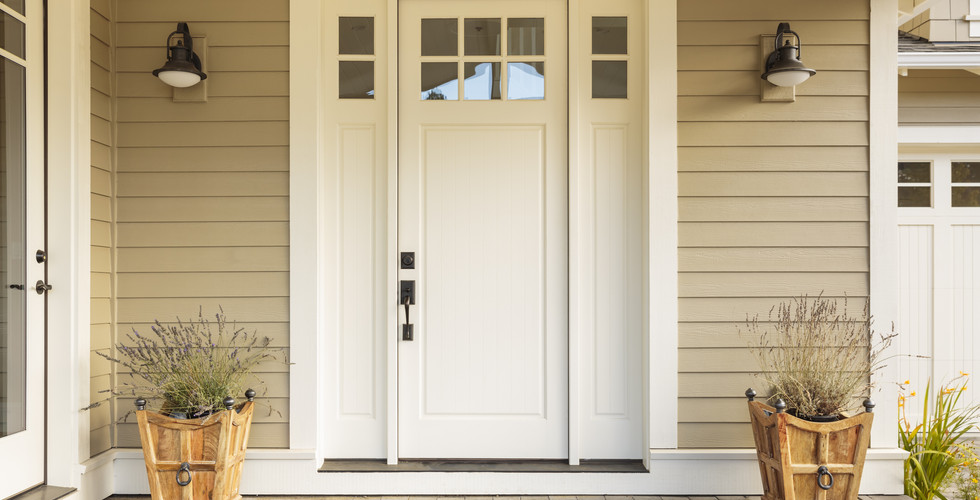 Beautiful new front door replacement in Holland. Remodeled by Renew Home Improvement contractor
