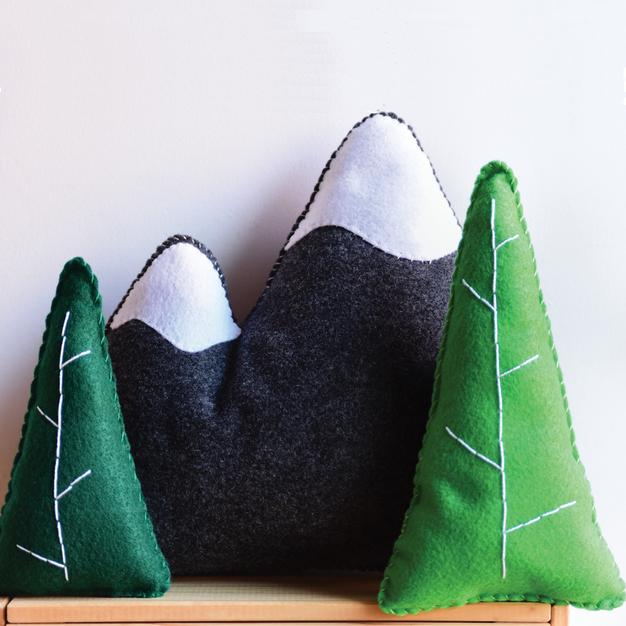Mountain + Trees Set