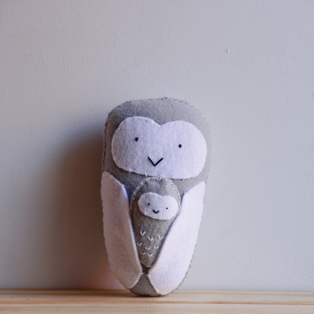 Jill / Mama Snowy Owl + Baby