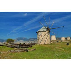 Preserved windmills in #bodrum near the #bodrummarina