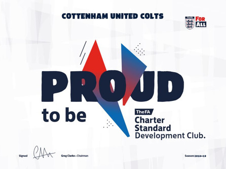 Cottenham United Colts receives a clean bill of health from the FA for another year