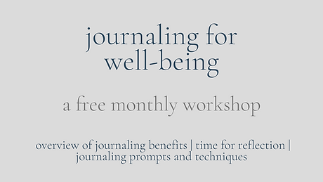 journaling for well being free workshop.