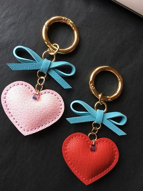 Heart & Bow Charm