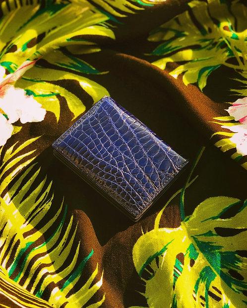 Shiny Crocodile Compact Card Case/Mini Wallet