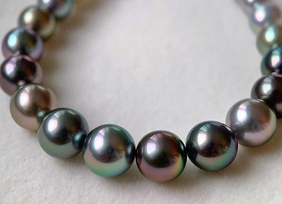 3-9.5mm Mix-Coloured Tahitian Japanese Akoya Pearl Necklace