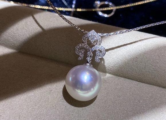 12-13mm Australian South Sea White Pearl Pendant