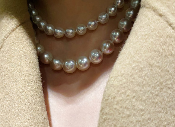 10-14mm Austrlian South Sea White Pearl Necklace