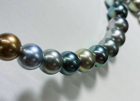8-11mm Mixed Coloured Tahitian Pearl Necklace