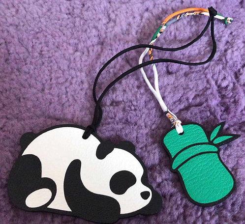 Panda loves Bamboo Charm Set