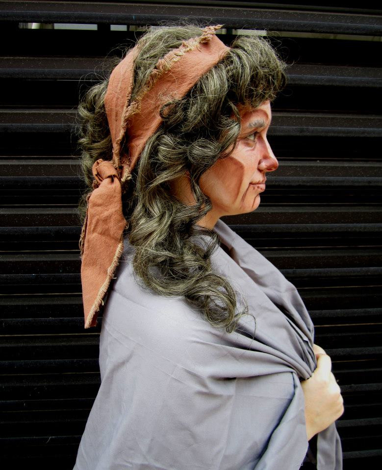 Opera Style Old Age Wig & Make-up
