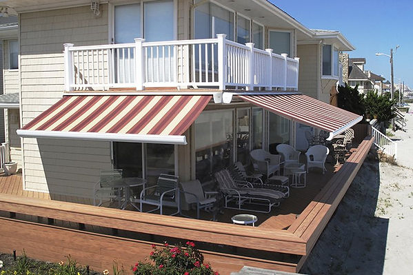 Aritocrat Retractable Fabric Awnings create the perfect shade to keep you cool!