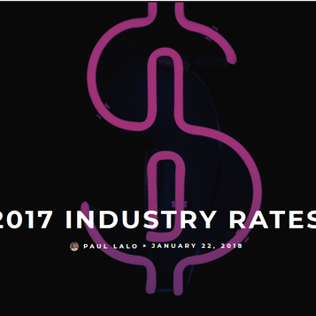 2017 industry rates survey for artists