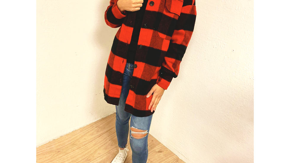 Chemise 90's red
