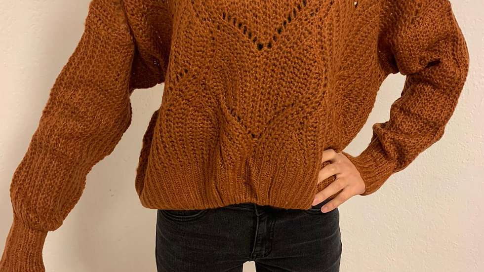 Pull laine oversize