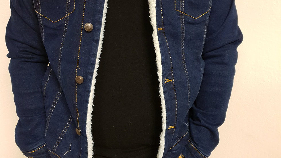 Veste jeans col mouton