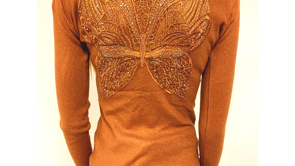 Pull buterfly rouille