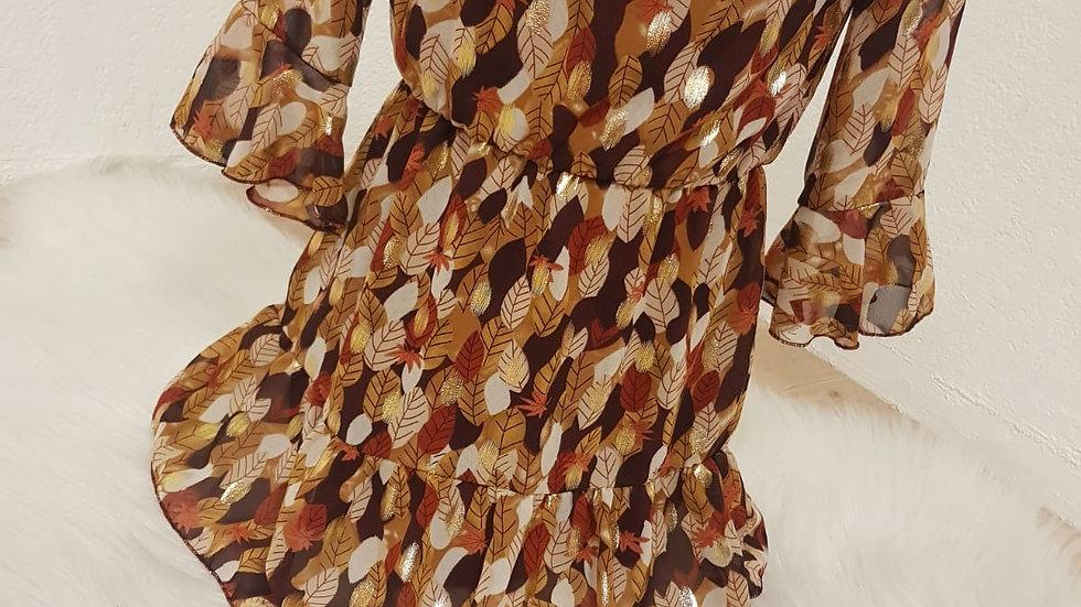 Robe feuilles d'or enfant