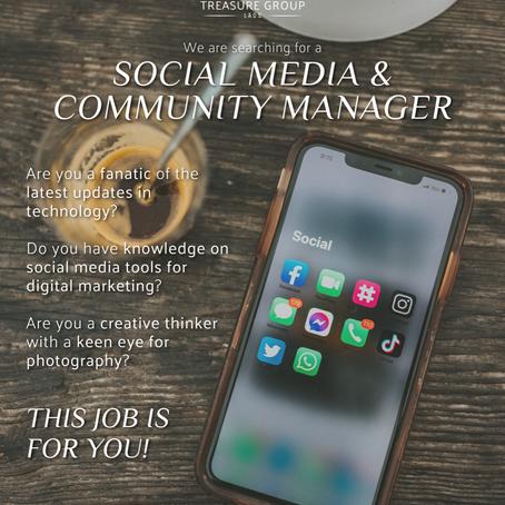 Social Media & Community Management - Hiring