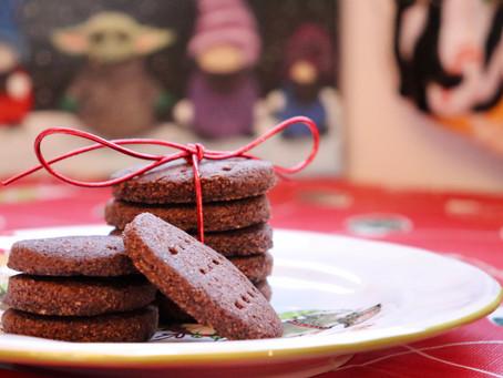 Chocolate Keto Shortbread Cookies