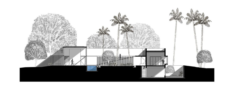Section plan of VIP's House